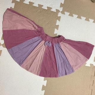 ブリーズ(BREEZE)のブリーズ❤︎スカート 90 秋冬 ピンク~紫系(スカート)