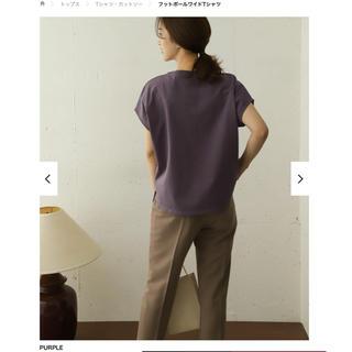 DOORS / URBAN RESEARCH - フットボールワイドTシャツ  PURPLE