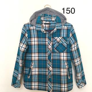 ユニクロ(UNIQLO)の美品★ユニクロ★中綿チェックシャツ ジャケット(150)(ジャケット/上着)