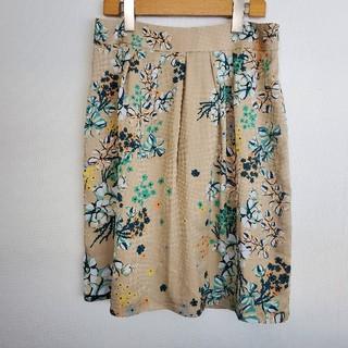 SunaUna - 【1305】SunaUna(スーナウーナ)◇花柄光沢千鳥格子スカート