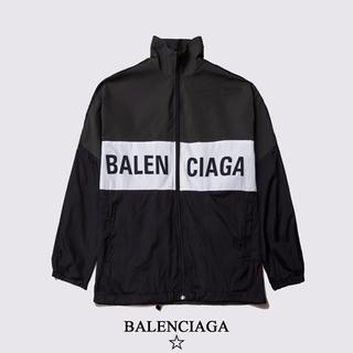 バレンシアガ(Balenciaga)の大人気【BALENCIAGA】ジップアップ ロゴ ジャケット(ミリタリージャケット)