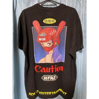 ヴァンキッシュ(VANQUISH)の【完売品】FR2 Biker Girl T-shirt Mサイズ(Tシャツ/カットソー(半袖/袖なし))