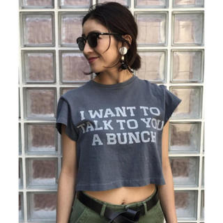 トゥデイフル(TODAYFUL)のTODAYFUL ショートLOGO Tシャツ ロゴTシャツ グレー 人気 半袖(Tシャツ(半袖/袖なし))