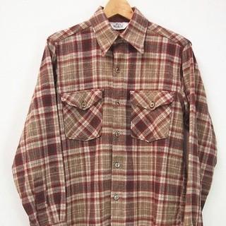 ウールリッチ(WOOLRICH)の実寸 M 70s ヴィンテージ Woolrich ウール シャツ 古着 b320(シャツ)