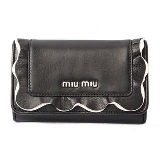 miumiu - miumiu 黒色 三つ折り財布