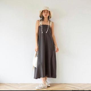 シールームリン(SeaRoomlynn)のフレアサロペットスカート ブラック S(サロペット/オーバーオール)
