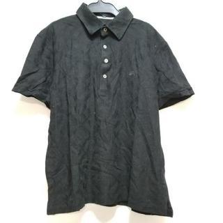 バーバリー(BURBERRY)のバーバリーロンドン 半袖ポロシャツ L 黒(ポロシャツ)