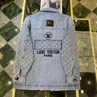 LOUIS VUITTON - 【ルイヴィトン】ロゴ デニムジャケット