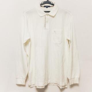 バーバリー(BURBERRY)のバーバリーロンドン 長袖ポロシャツ M - 白(ポロシャツ)