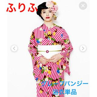 フリフ(ふりふ)の☆最終値下げ☆美品 グレープパンジー 浴衣 セオアルファ  ポリエステル(浴衣)