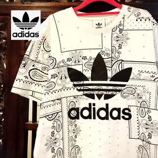adidas - アディダス オリジナルス 白 ペイズリー Tシャツ タンクトップ ジャージ