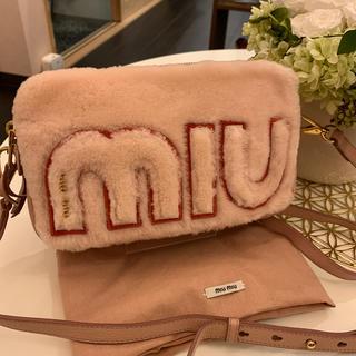 ミュウミュウ(miumiu)のmiu miu ミュウミュウ ショルダーバック ファー ピンク 新品 未使用(ショルダーバッグ)