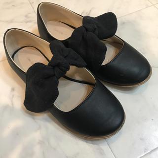 ザラキッズ(ZARA KIDS)のZARA kids パンプス 黒 女の子 靴 18 18.5(フォーマルシューズ)