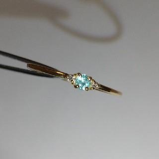パライバトルマリン ダイヤモンド K18 リング(リング(指輪))