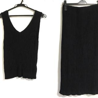 ローズバッド(ROSE BUD)のローズバッド スカートセットアップ F 黒(セット/コーデ)