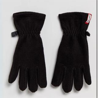 ハンター(HUNTER)の【未使用】HUNTER ハンター フリース 手袋 ブラック(手袋)