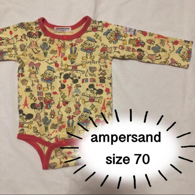 ampersand(アンパサンド)のロンパース  キッズ/ベビー/マタニティのベビー服(~85cm)(ロンパース)の商品写真