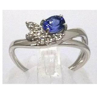 【個性的デザイン】天然タンザナイト ダイヤモンドリング(ソーティング付)(リング(指輪))