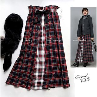 SCOT CLUB - 定価16,800円【新品】日本製・スコットクラブ★Wゴムチェック柄ロングスカート