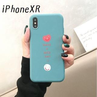 SALE!ブルー iPhoneXR マットカラー ケース カバー(iPhoneケース)