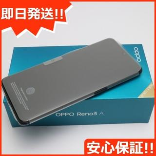 アンドロイド(ANDROID)の新品 SIMフリー OPPO Reno3 A ブラック (スマートフォン本体)