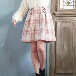 MAJESTIC LEGON☆ステッチ風ツィードスカート