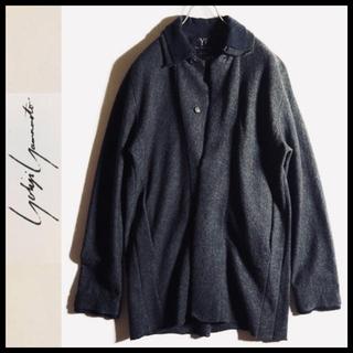 ヨウジヤマモト(Yohji Yamamoto)のY's 縮絨ウール レイヤード風 ジャケットコート YohjiYamamoto(ステンカラーコート)