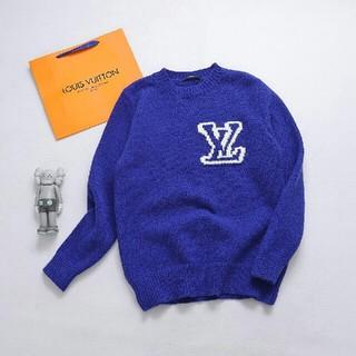 ルイヴィトン(LOUIS VUITTON)のウールの丸首のセーター(ニット/セーター)