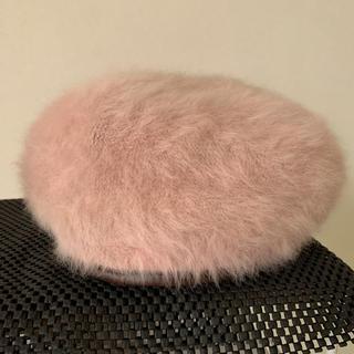 スライ(SLY)のSLY ファー ベレー帽 ピンク(ハンチング/ベレー帽)
