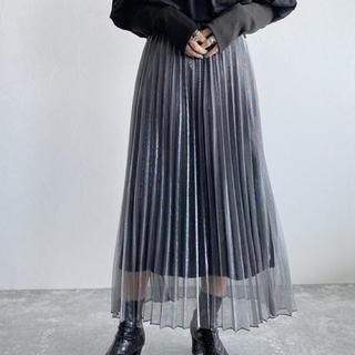 ジーナシス(JEANASIS)のシアーシャイニープリーツスカート(ロングスカート)