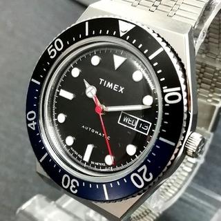 タイメックス(TIMEX)のタイメックス M79【新品】青黒 バットマンカラー 自動巻き メンズ 腕時計(腕時計(アナログ))