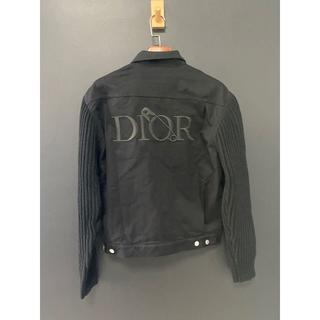 ディオール(Dior)のDIOR ブルゾン ジャケット アウター 異素材 メンズ 黒 限定 新作(Gジャン/デニムジャケット)
