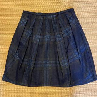 マルティニークルコント(martinique Le Conte)のマルティニーク チェックスカート(ひざ丈スカート)