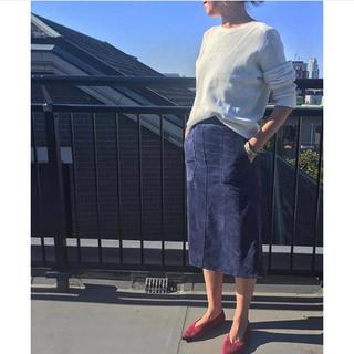 ドゥロワー(Drawer)のmadison blue  スウェードレザースカート(ひざ丈スカート)