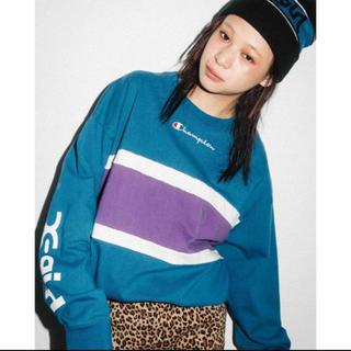 エックスガール(X-girl)の数回のみ Championコラボ 長袖Tシャツ(Tシャツ(長袖/七分))