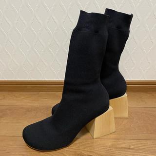 エンフォルド(ENFOLD)のエンフォルド☆ニットソックスブーツ38黒(ブーツ)