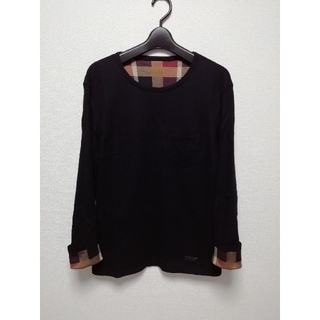 ブラックレーベルクレストブリッジ(BLACK LABEL CRESTBRIDGE)のブラックレーベルクレストブリッジ ロンT 長袖 ニット リバーシブル チェック(Tシャツ/カットソー(七分/長袖))