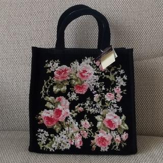 ローラアシュレイ(LAURA ASHLEY)のローラアシュレイ シェニール織りバッグ(ハンドバッグ)