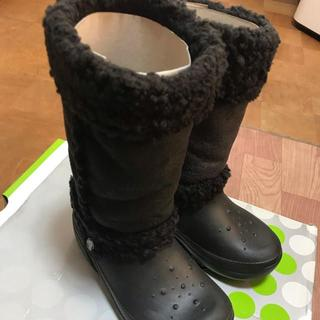 クロックス(crocs)のクロックス kids nadia ブラック(ブーツ)