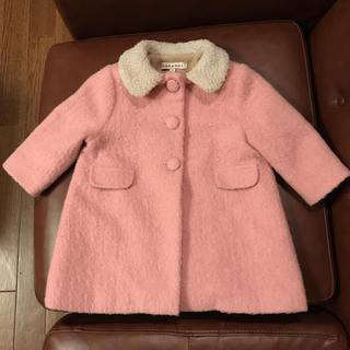 キャラメルベビー&チャイルド(Caramel baby&child )のcaramel babyandchild キャラメル  ピンク コート 2歳(ジャケット/コート)