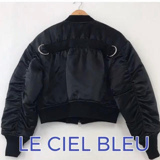 ルシェルブルー(LE CIEL BLEU)のLE CIEL BLEU  MA-1 ブルゾン サイズ36(ブルゾン)