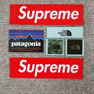 patagonia - ノースフェイス3枚、パタゴニア1枚、supreme  ステッカー2枚