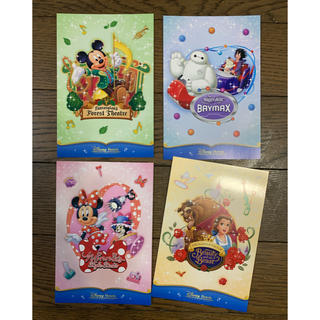 ディズニー(Disney)のディズニーランドホテル 新エリア ポストカード 美女と野獣 ベイマックス(キャラクターグッズ)