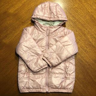 サンカンシオン(3can4on)の三寒四温 アウター 95 フード付き ピンク 上着 ドット リボン(ジャケット/上着)