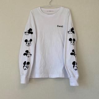ワンアフターアナザーナイスクラップ(one after another NICE CLAUP)のナイスクラップ ミッキーマウス Big Tシャツ(Tシャツ(長袖/七分))