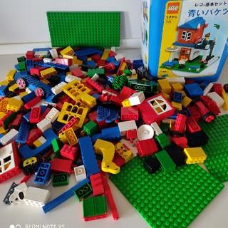 Lego - 合計約1400 グラム レゴ 青いバケツ(7335) + 赤いバケツ(4244)