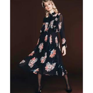 DOUBLE STANDARD CLOTHING - Sov. / ポリエステルシフォン Jeana originalワンピース