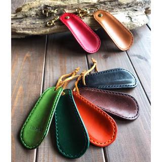 お出掛けや旅行に プレゼントにもぴったりな 手縫いで仕上げた 靴ベラ(旅行用品)
