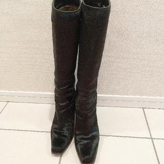 バリー(Bally)のBally ブラックロングブーツ US6.5/4EU/約23.5cm 美品 (ブーツ)