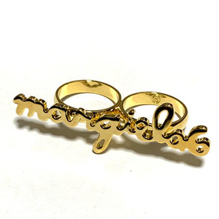 エムエムシックス(MM6)の新品 メゾンマルジェラ MM6 リング 指輪 14号サイズ ゴールド 2連リング(リング(指輪))